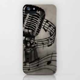 The power of song iPhone Case