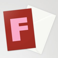 Pink F Stationery Cards