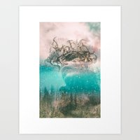 Abstract portrait VI Art Print