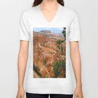 utah V-neck T-shirts featuring UTAH HOODOOS by RENA16