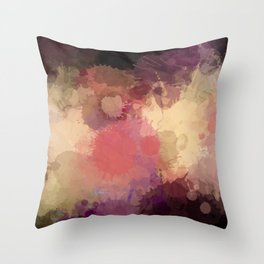 Modern Contemporary Ultra Violet Glow Abstract Throw Pillow