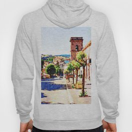 Borrello: foreshortening with bell tower Hoody