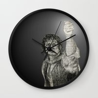 lotr Wall Clocks featuring LotR - The Light of Earendil by Faye Sutherland