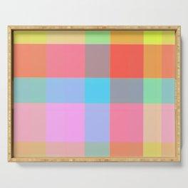 Pastel Plaid Pattern / GFTPlaid025 Serving Tray