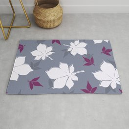 Serene Leaves Pattern Rug