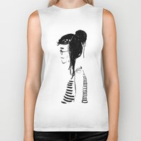 hippy Biker Tanks featuring Hippy girl by SolaKida