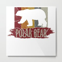 Bear North Pole Gift Brown Panda Funny Cool Metal Print