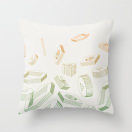 Muddled Throw Pillow