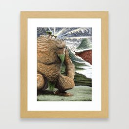 The Earth Golem Framed Art Print