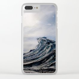 WAVE # 1 - sky Clear iPhone Case