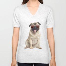 Cool pug Unisex V-Neck