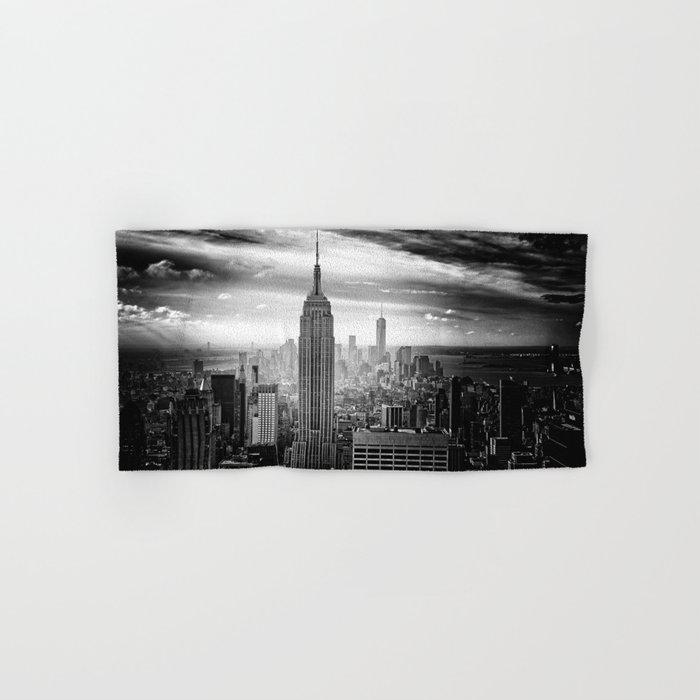 New york city black white 2 Hand & Bath Towel