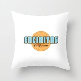 Encinitas - California. Throw Pillow