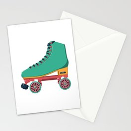old school roller skate Stationery Cards