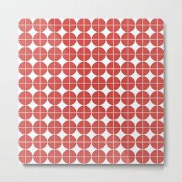 Red circle pattern Metal Print