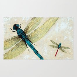 Zen Flight - Dragonfly Art By Sharon Cummings Rug
