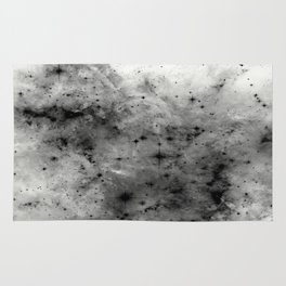 Space Without Colour - Black And White Painting Rug