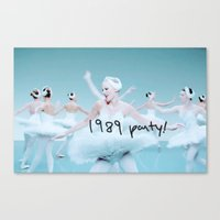 1989 Canvas Prints featuring 1989 Party by taylorsvift