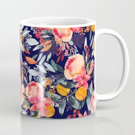 Navy Floral Coffee Mug