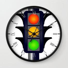 Hooded Traffic Lights Wall Clock