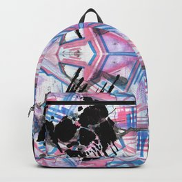 Dripping Kaleido-Skull Backpack