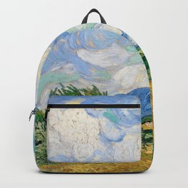 Wheat Field with Cypresses by Vincent van Gogh Backpack