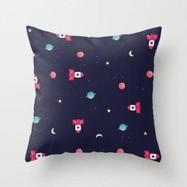 COSMODOG : rocket Throw Pillow