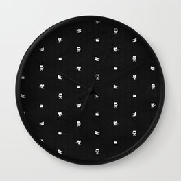 Cinema Pattern | Black and White Wall Clock