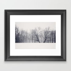 Into the Blizzard Framed Art Print