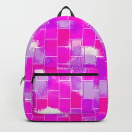 BRICK WALL SMUDGED (Purples, Violets & Fuchsias) Backpack