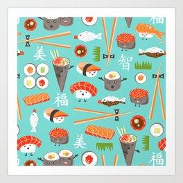 Happy Sushi Kunstdrucke
