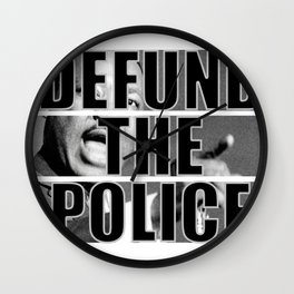 Defund The Police ML King  Wall Clock