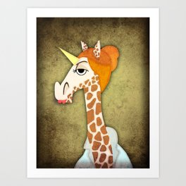 Girafficorn Art Print