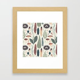 Forest Fall Pattern Framed Art Print