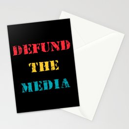 Defund the Media Stationery Cards