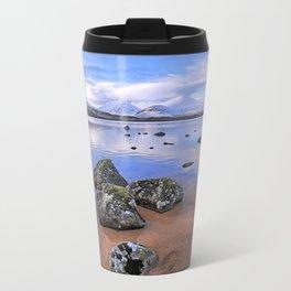 Rocking it on Rannoch Moor; Scottish highlands Metal Travel Mug