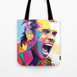 Gareth Bale in Colorful WPAP Tote Bag