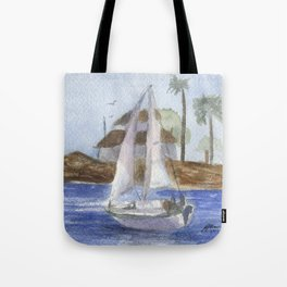 Blissful Bay Tote Bag