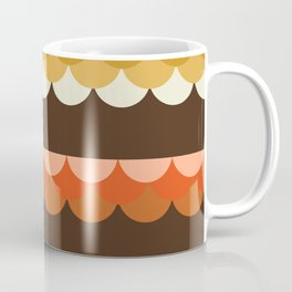 Be Still - scallop retro vintage 70s style colors 1970s throwback Coffee Mug