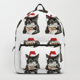 Purrfect Morning Christmas Backpack