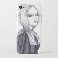 cara delevingne iPhone & iPod Cases featuring Cara Delevingne by Asquared2Art