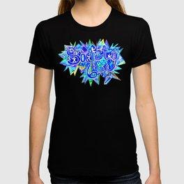 S6 TEE Aqua Blue surf Zentangle T-shirt