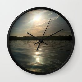 River Sun Wall Clock