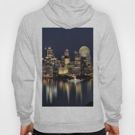 Moon Rise Over Pittsburgh Hoody