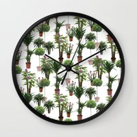 plants Wall Clocks featuring plants by Gregory Sheppard