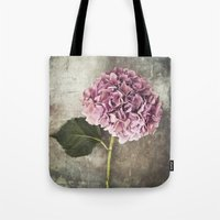 hydrangea Tote Bags featuring Hydrangea  by Maria Heyens