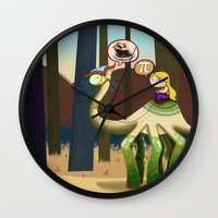 pie Wall Clocks featuring Pie? by Megan Unser