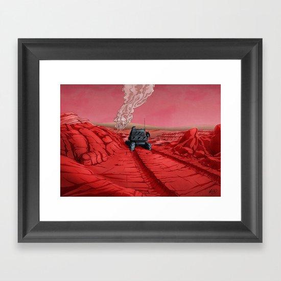 Green Mars Framed Art Print