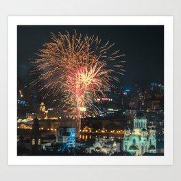 Firework collection 1 Art Print