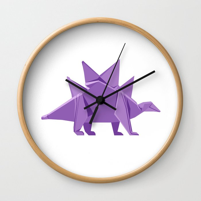 Origami Stegosaurus Wall Clock